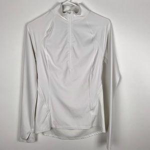 Athleta XS Long Sleeve Running Shirt Quarter zip